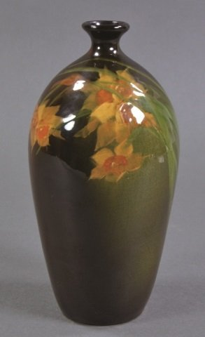 Delicate Roseville Rozane Ware Narcissus Vase