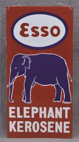 Australian Esso Elephant Kerosene Sign