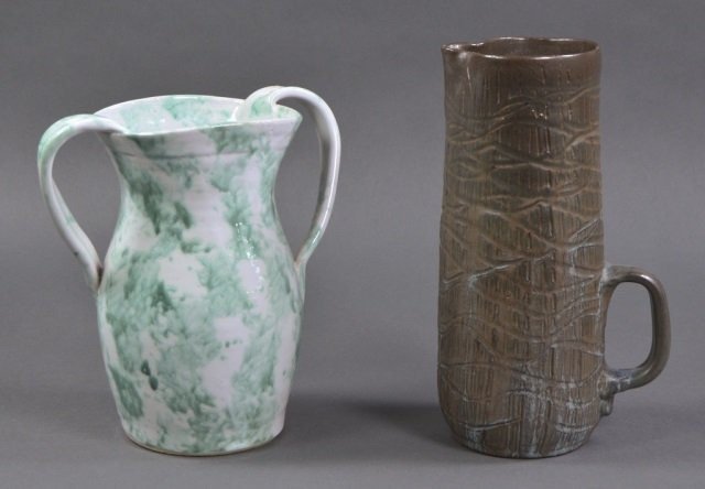 Two North Carolina Pottery Vases