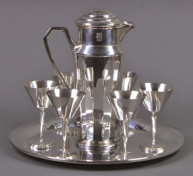 Frank L. Smith 8-Piece Sterling Cocktail Set