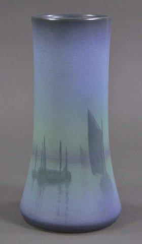 Sallie Coyne Rookwood Scenic Vellum Vase