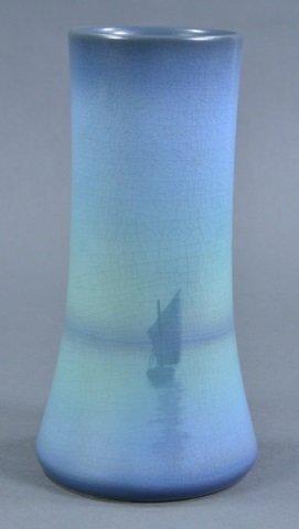 Sallie Coyne Rookwood Scenic Vellum Vase - 2