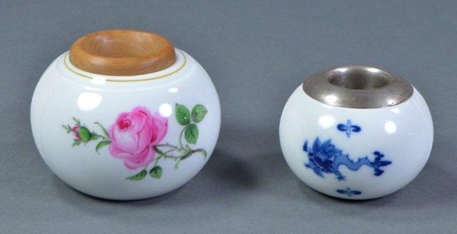 Two Meissen Porcelain Match Strikers - 2