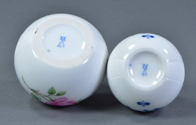 Two Meissen Porcelain Match Strikers - 3