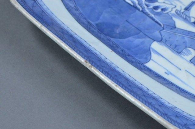 Large Blue & White Canton Platter - 3