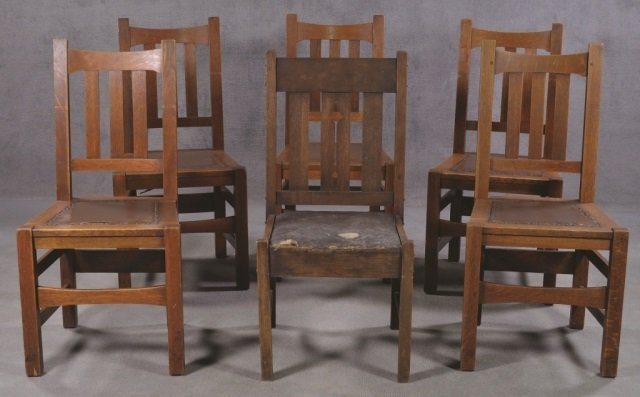 Set of Five Stickley Bros. Co. Chairs