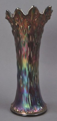 "Vintage Carnival Glass ""Tree Trunk"" Vase - 2"
