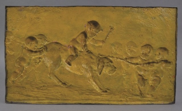 19th Clodion French Spelter Plaque - 2