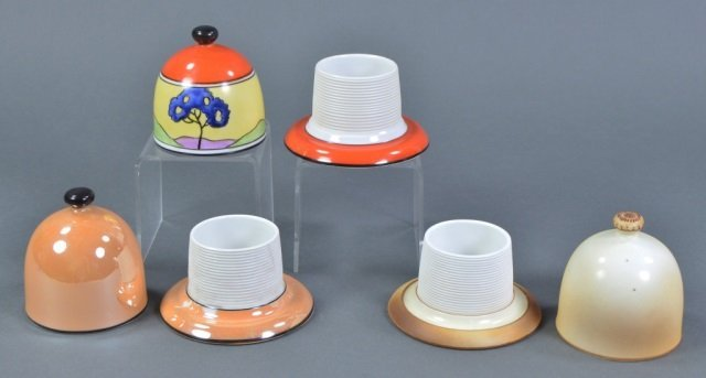Three Lidded Porcelain Match Strikers - 2