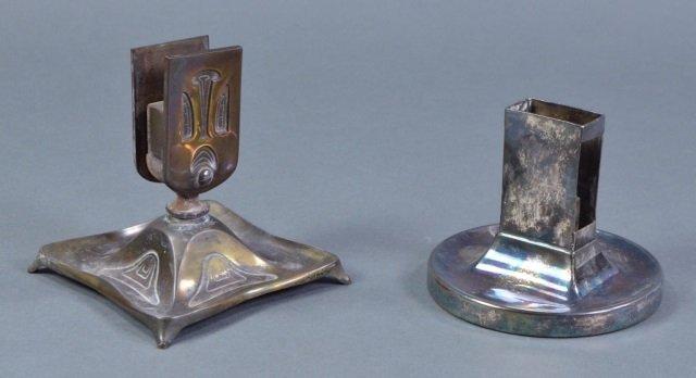 Two Metal Desktop Match Holders - 2