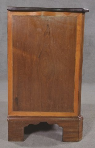 English Mahogany Serpentine Front Chest - 8