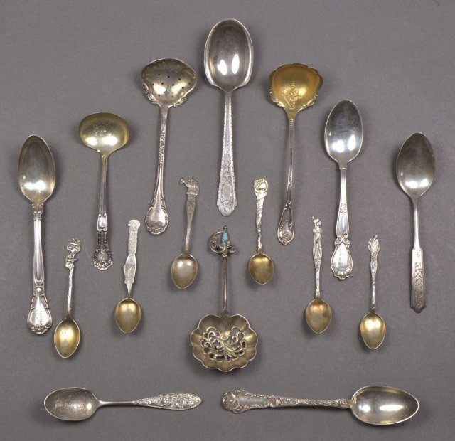 Group of Small Silver Spoons