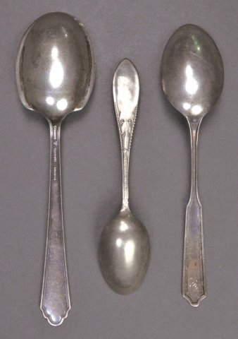 Group of Small Silver Spoons - 5