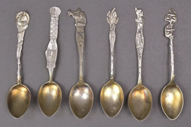 Group of Small Silver Spoons - 6