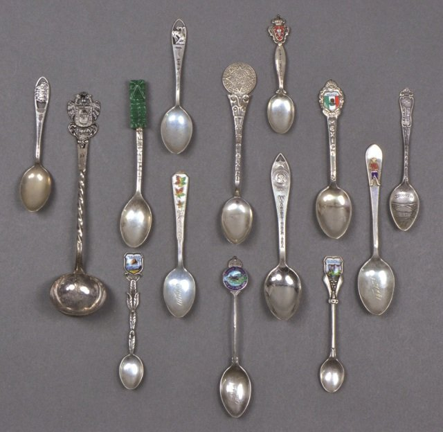 Group of Sterling Souvenir Spoons