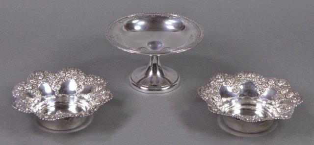 Three Sterling Bowls