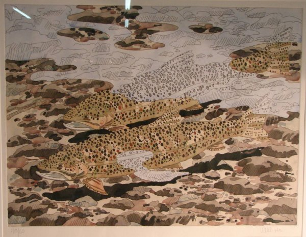 Neil Welliver Trout and Reflections