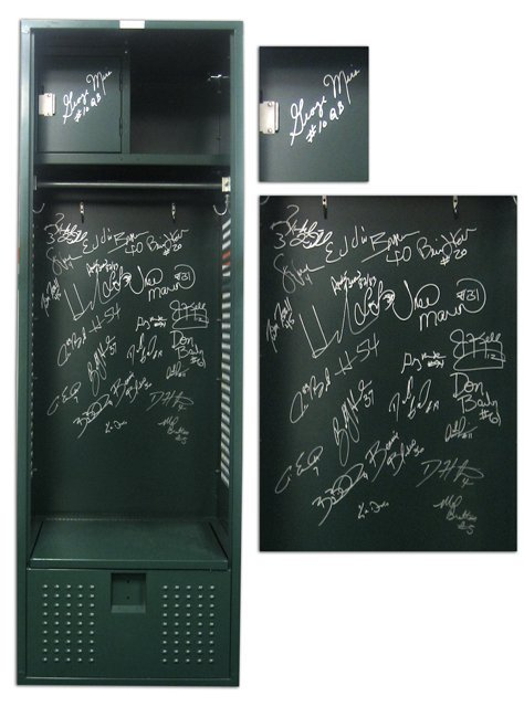 14: Authentic Orange Bowl Hurricanes Autographed Locker