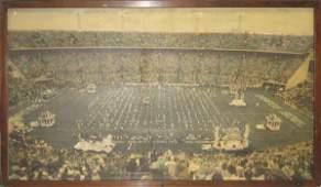 84: Authentic Orange Bowl Framed 1962 Mural