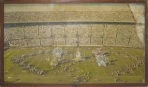 85: Authentic Orange Bowl Framed 1957 Mural