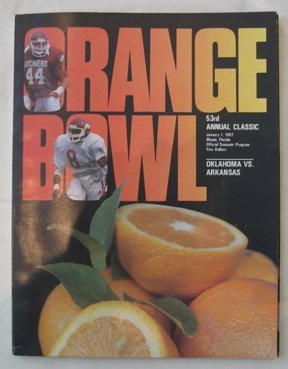23: Authentic Orange Bowl 1987 Game Program