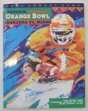 24: Authentic Orange Bowl 1992 Game Program