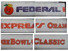 309: Authentic Orange Bowl FedEx Scoreboard Sign
