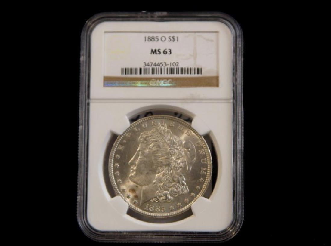 MORGAN SILVER DOLLAR 1885 0 MS 63
