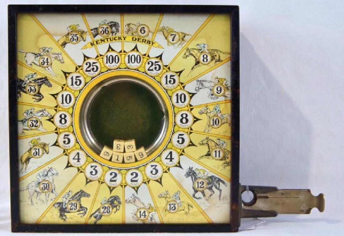 Kentucky Derby coin op antique game