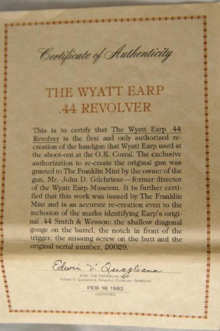 Wyatt Earp commem. 44 Schofield Franklin Mint - 4