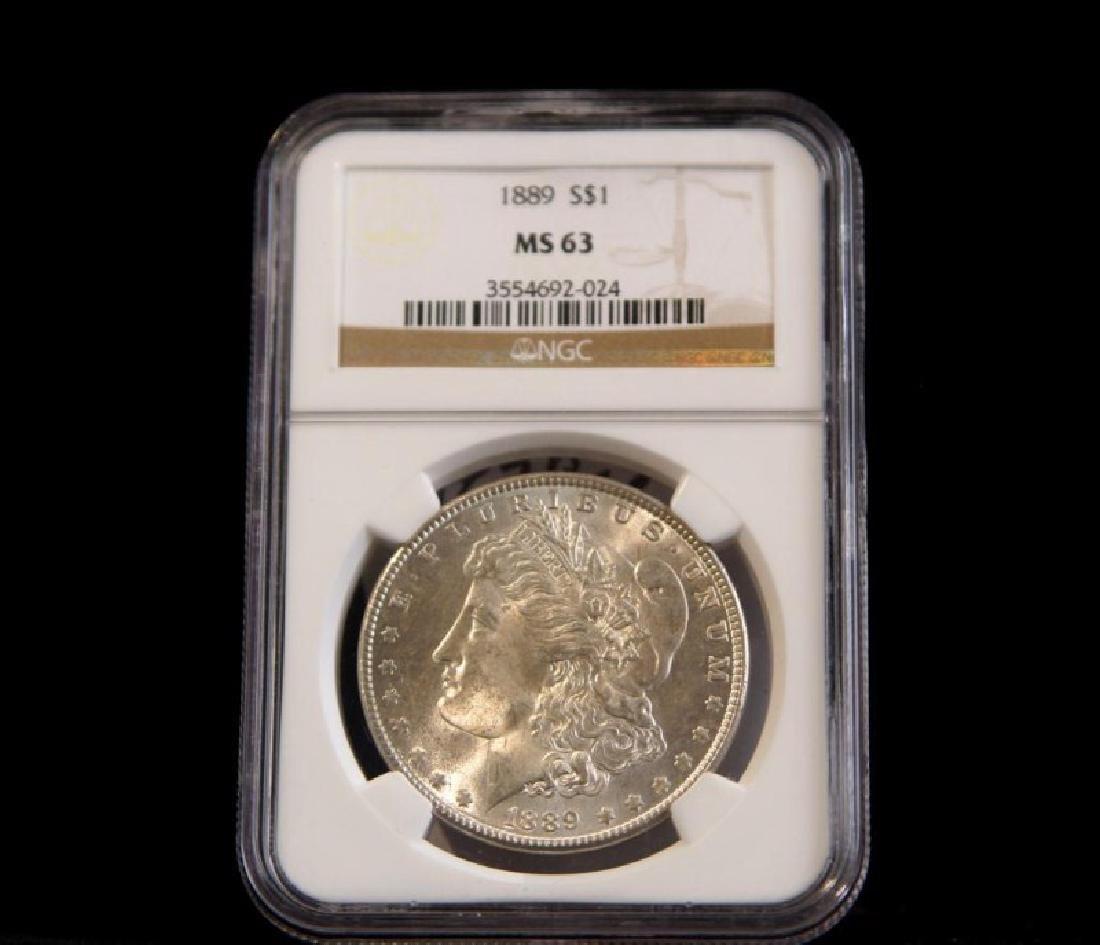 MORGAN SILVER DOLLAR 1889 MS 63