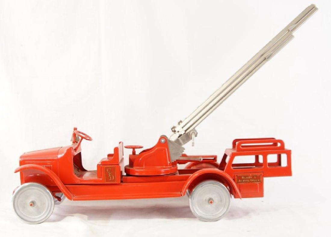 Antique Steel Toy Buddy L fire truck