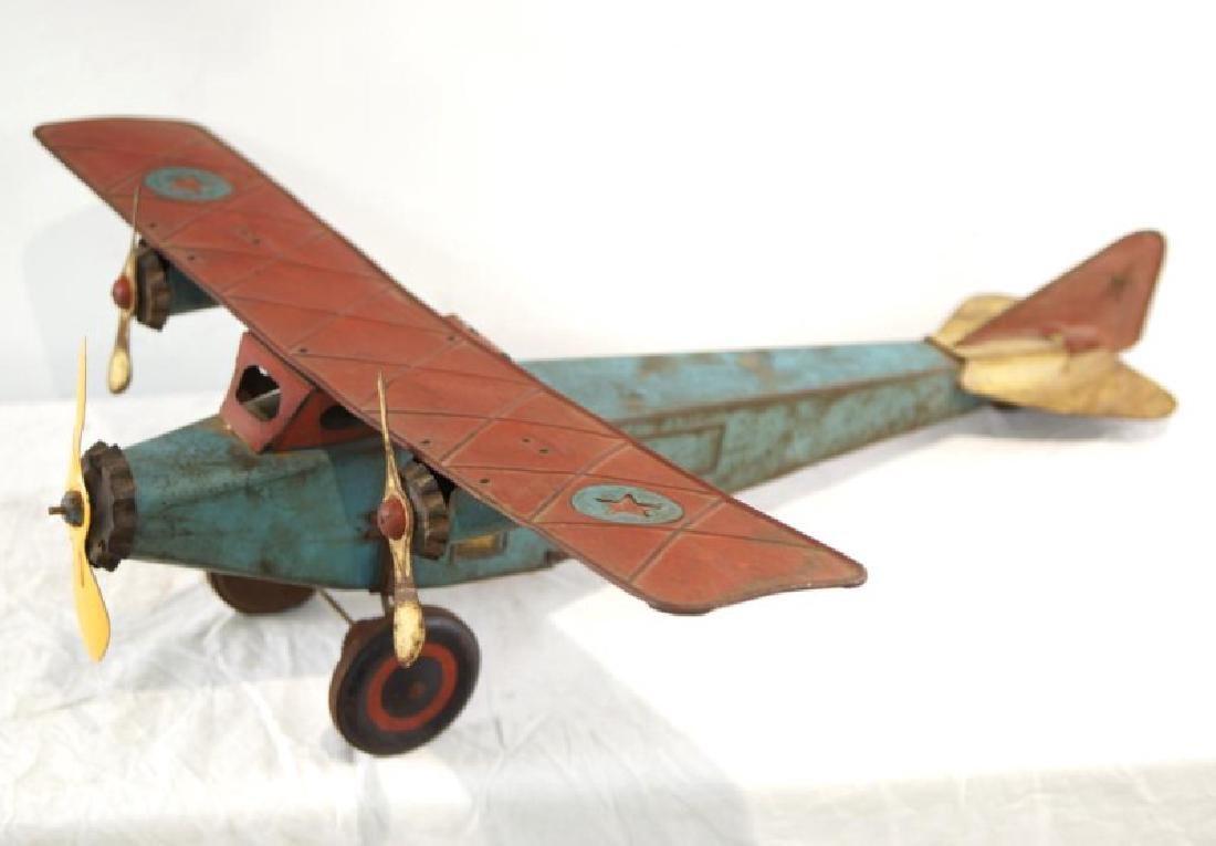 Vintage Schieble's Tri Motor Transport Tin Toy