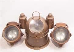 Nautical compass & Rare Arc Lanterns