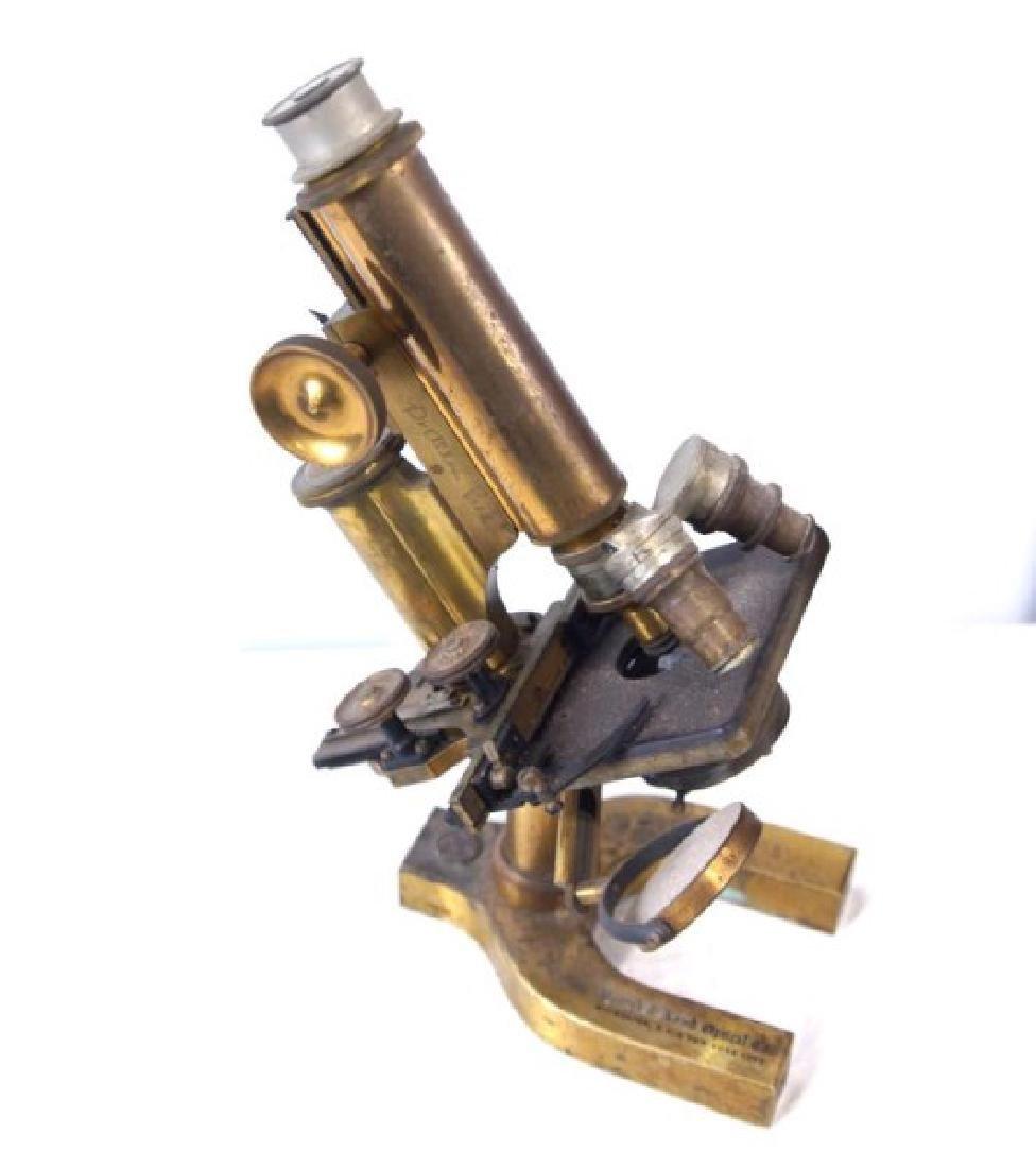 Antique Bausch & Lomb brass microscope