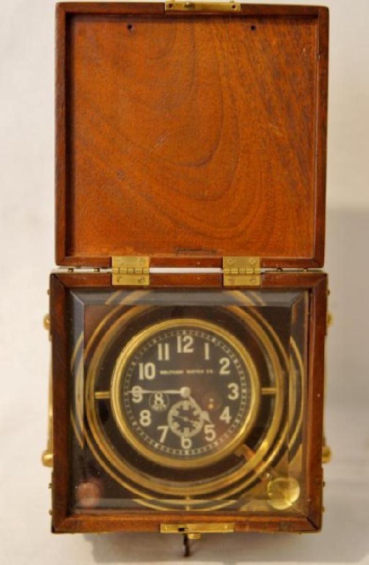 Waltham Watch Co. ship's clock Cased
