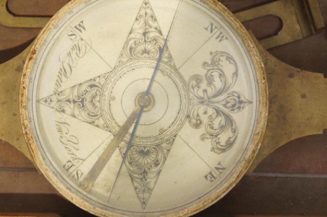 Antique Brass Cased Ships Compass- New York - 2