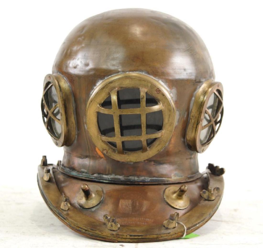 Antique Brass deep sea diving bell