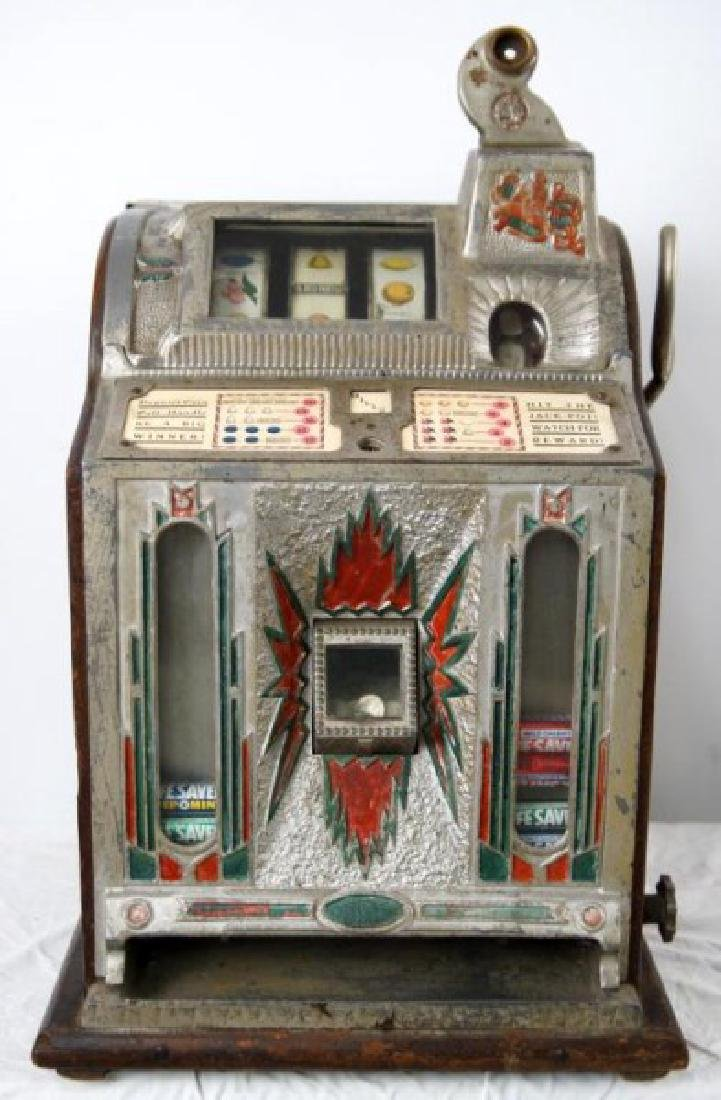 Antique Mills Liberty Bell 5 c Mint Slot Machine