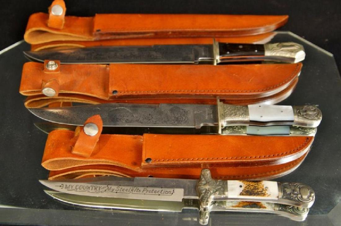 Japanese Bowie knives with scabbard