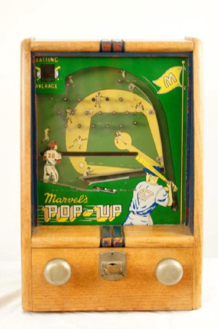 Vintage Marvels POP-UP coin op batting game