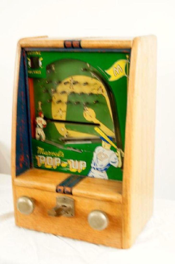 Vintage Marvels POP-UP coin op batting game - 3