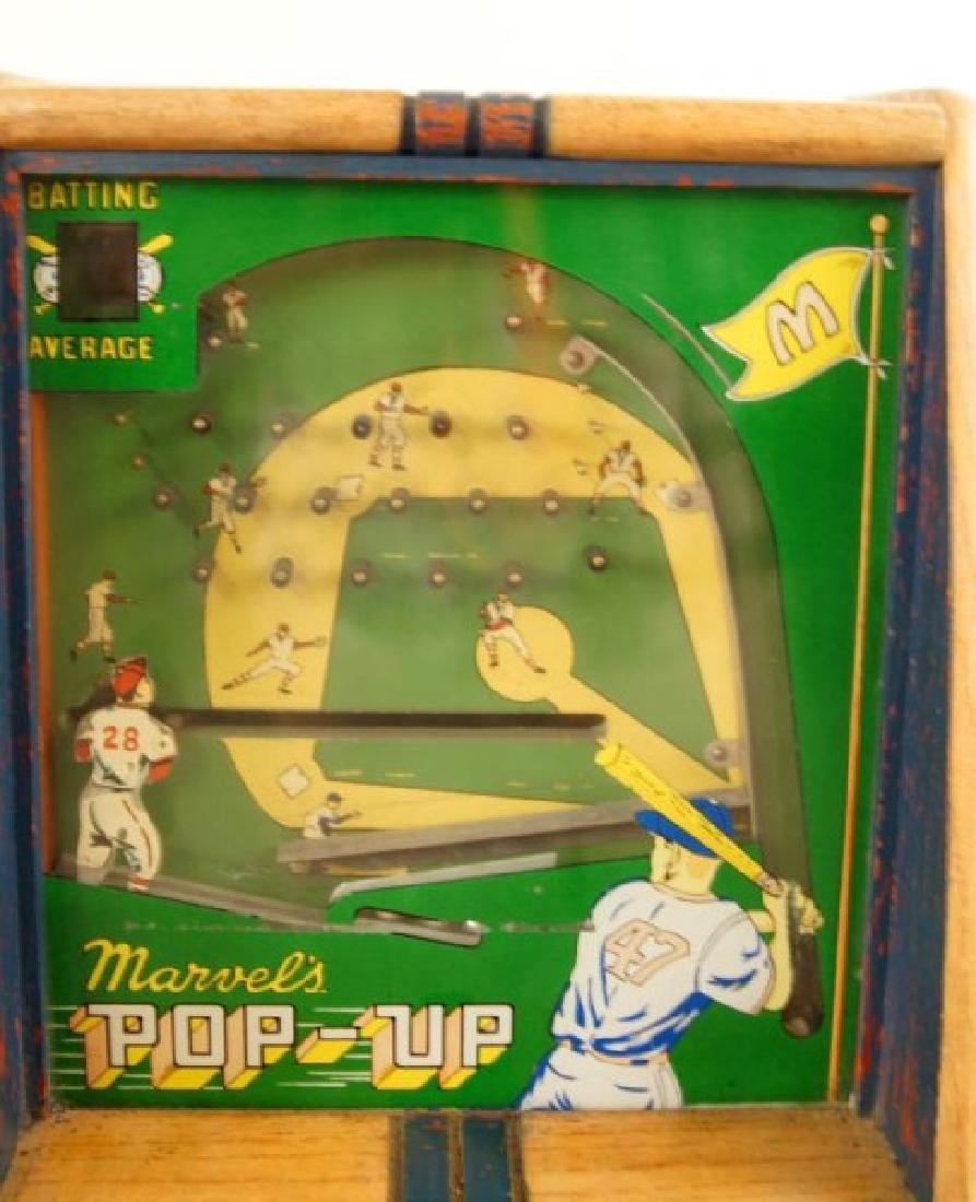 Vintage Marvels POP-UP coin op batting game - 4