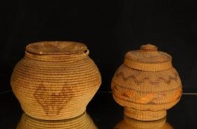 Native American baskets - PANAMINT w/ butterfly