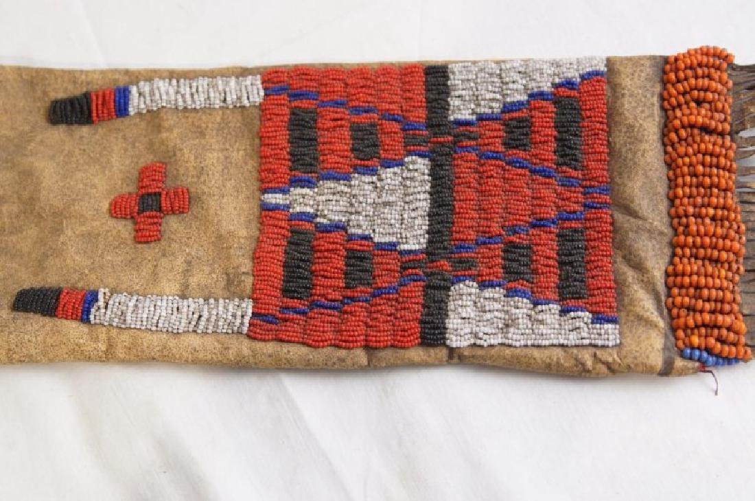 Plains Indian Beaded Pipe Bag - 4