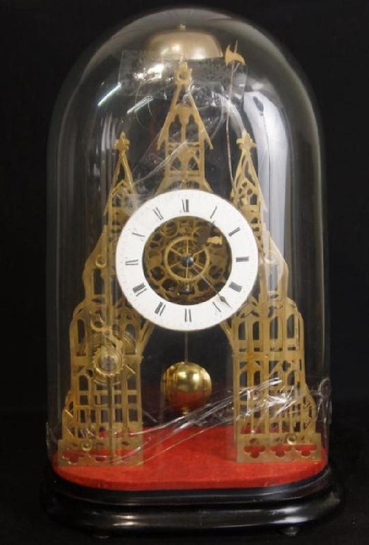 Antique Skeleton clock - 2
