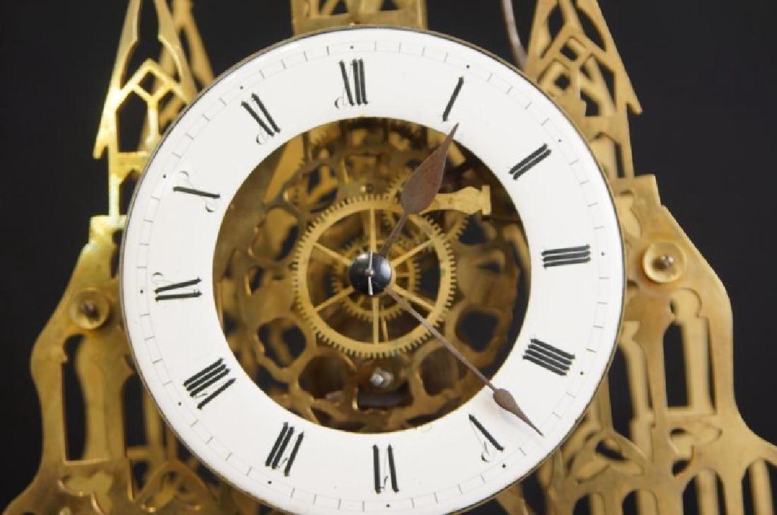 Antique Skeleton clock - 3