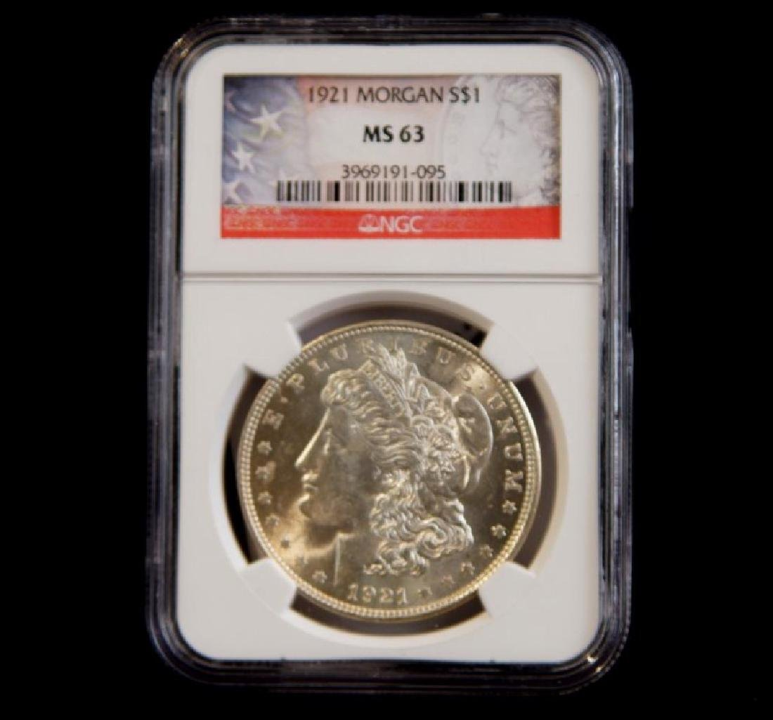 MORGAN SILVER DOLLAR 1921 MS 63