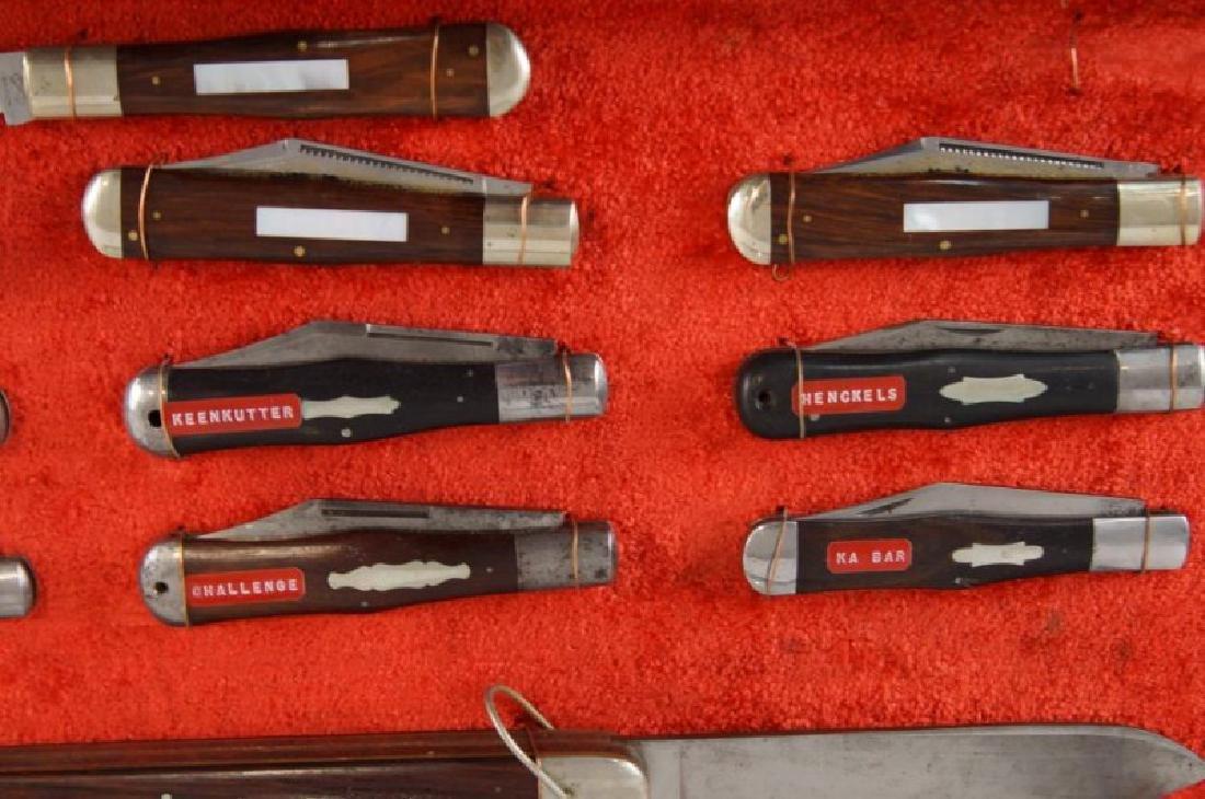 Antique Folding Knives sampler in case S - 10