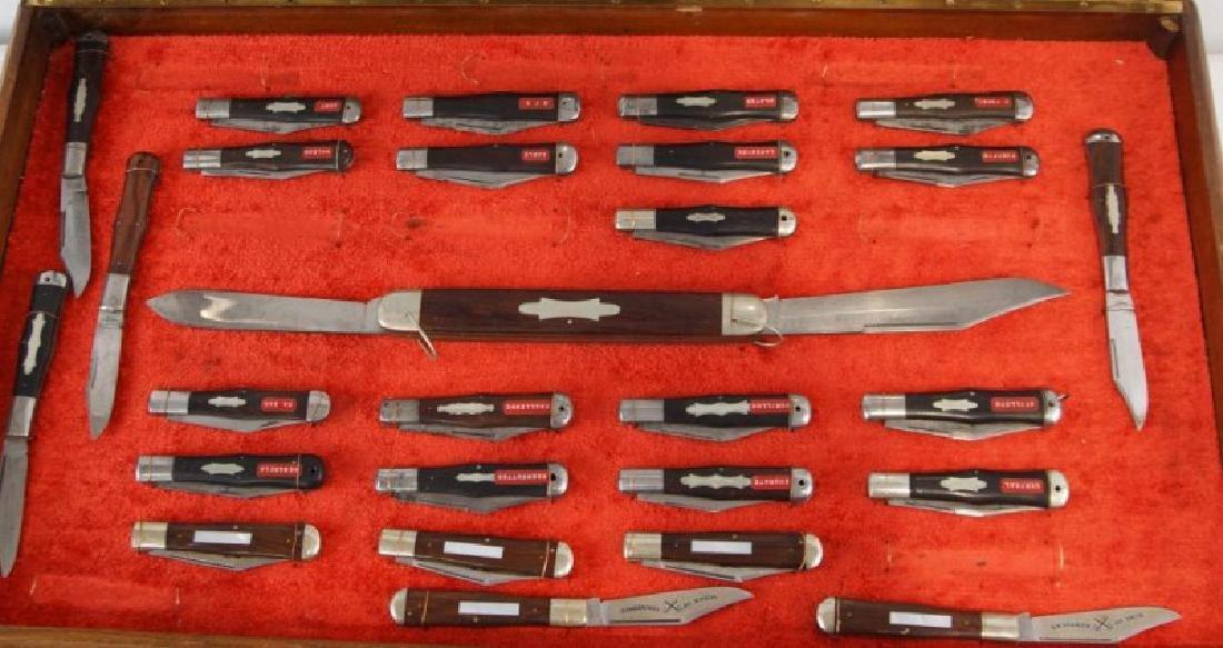 Antique Folding Knives sampler in case S
